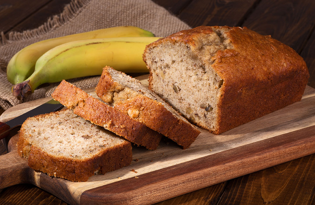 Pan de plátano fácil de hacer