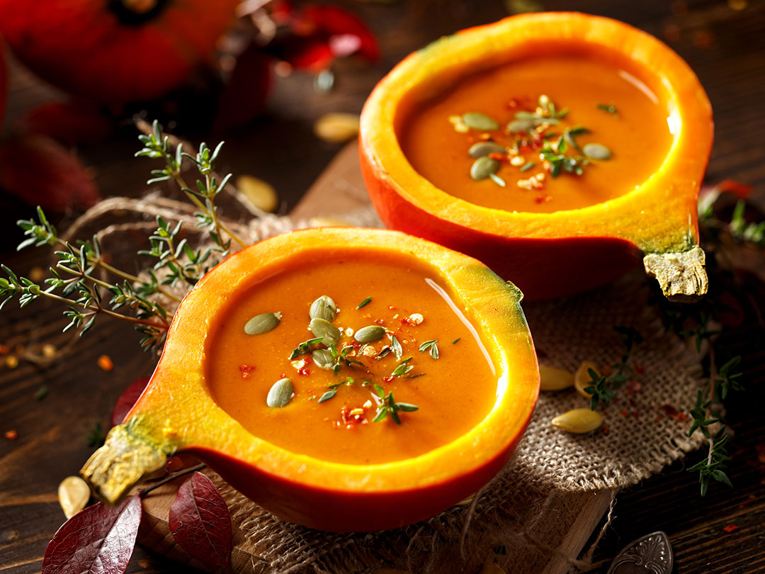 Crema de calabaza y curry para el otoño